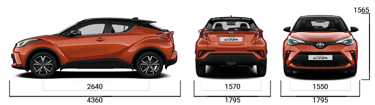 toyota c-hr sizes