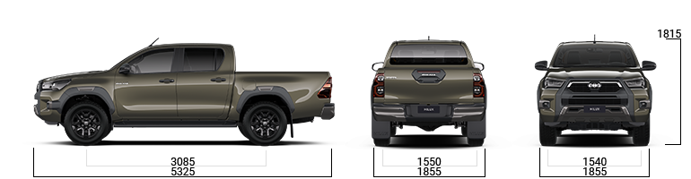 toyota hilux sizes