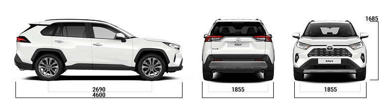 toyota rav4 sizes